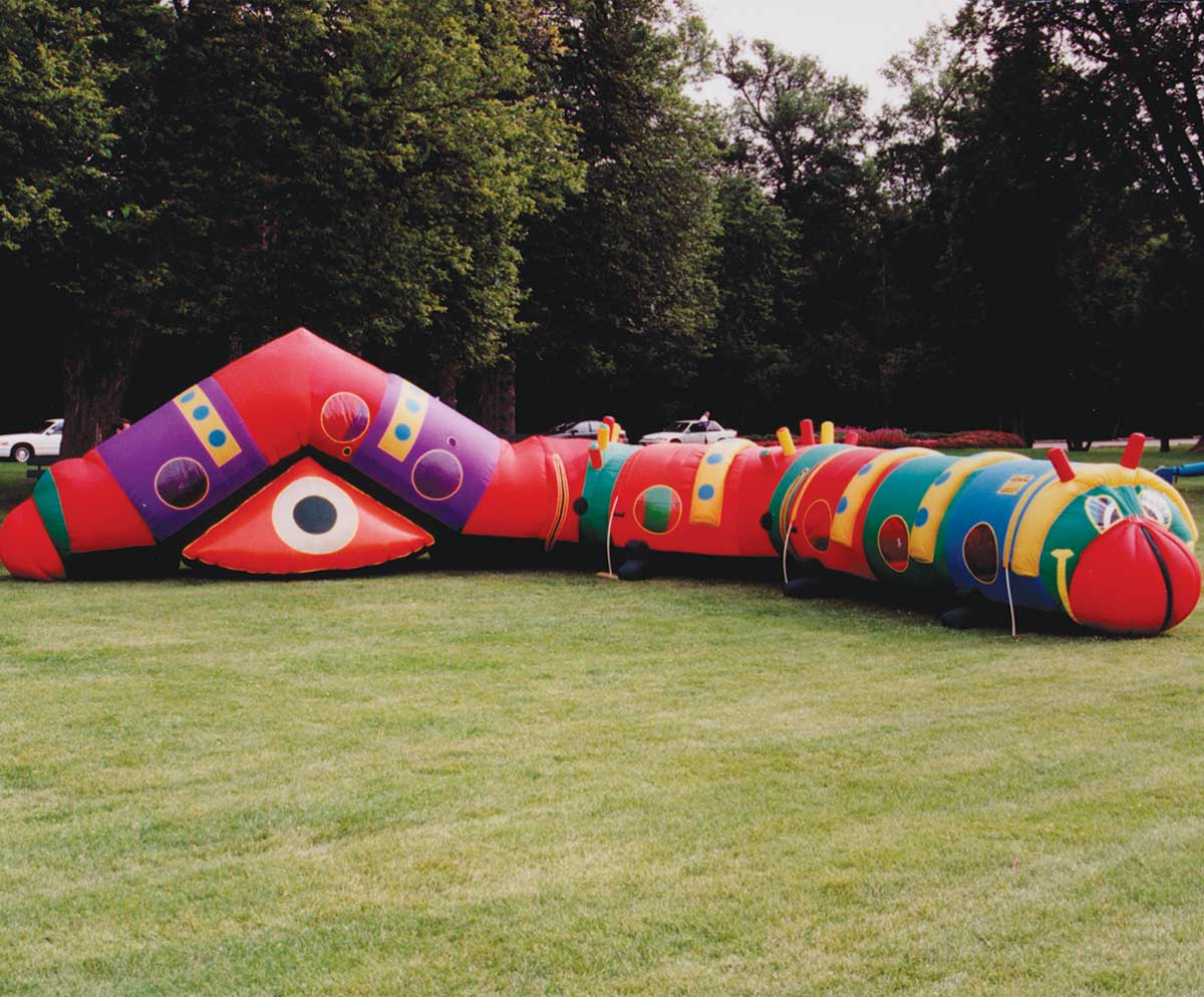 Cameron the Caterpillar inflatable crawl through tunnel
