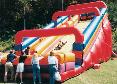 Giant Inflatable Slide parents watching