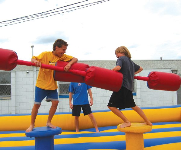 Two boys on Gladiator Joust